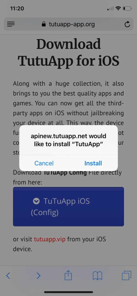 Latest TuTuApp on iOS
