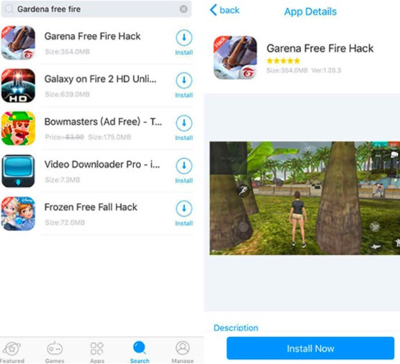 Garena Free Fire Hack Game on iOS