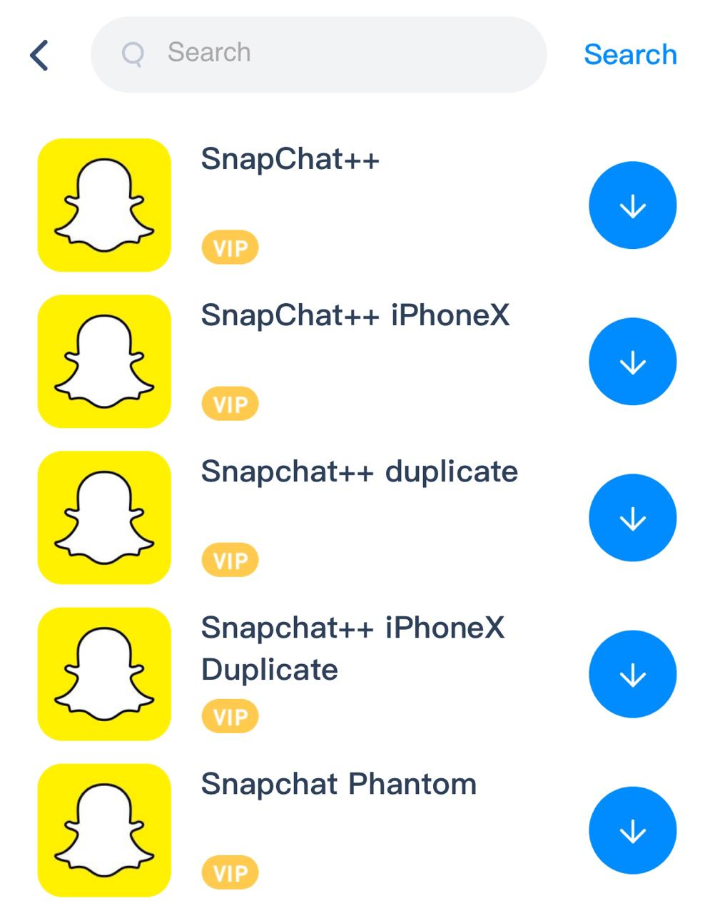 Tap on SnapChat++ on iOS